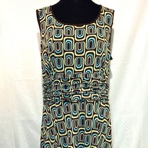 Boho Abstract Print Sleeveless Dress Size 18